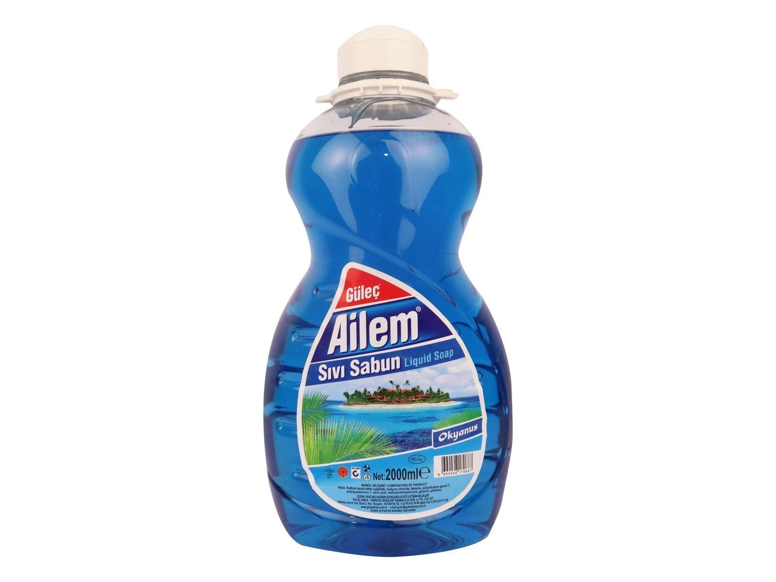 Ailem Sıvı El Sabunu 2000 ml Mavi